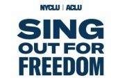 Photo credit: ACLU and NYCLU Sing Out For Freedom (Photo courtesy of Polk PR)