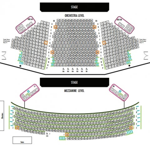 American Airlines Theatre - Roundabout Theatre Company Seating Plan