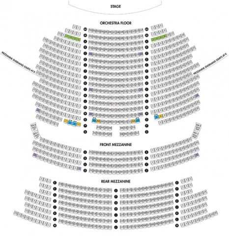 Brooks Atkinson Theatre Seating Plan
