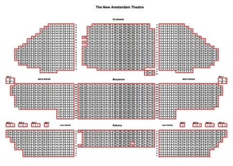 New Amsterdam Theatre Seating Plan