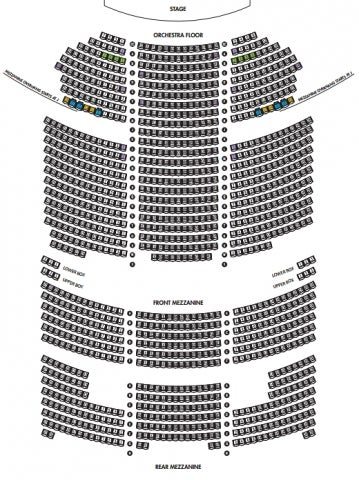 Richard Rodgers Theatre Seating Plan